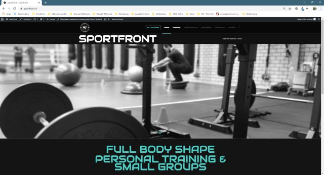 Sportfront - website